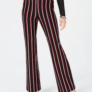I.N.C. Striped Ponté-Knit Bootcut Pants
